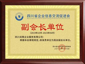 四川省企业信息交流会副会长单位